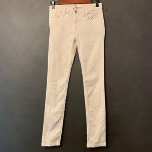 Khaki colored skinny jeans Zara